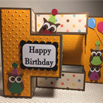 Handmade tri fold Birthday card