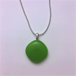 Greenery Green Mini Fused Glass Pendant