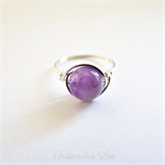 Sterling Silver Amethyst Gemstone Wrapped Ring