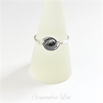 Sterling Silver Hematite Gemstone Wrapped Ring