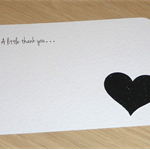 Set 10 Thank you notes - Wedding Engagement Anniversary