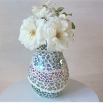 Beach Inspired  Mosaic Vase