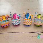 Personalised Easter Egg Holder - suit LARGE hollow egg - set 12, 6 designs