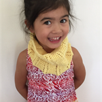 Hand-Knit, Wool, Child, Neckwarmer Cowl, Citrus Yellow