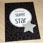 Thanks for being a Super Star - Thank you card