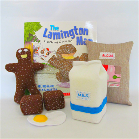 The Lamington Man Book and Story Telling Set