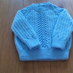 Baby Boys Blue Jumper to fit size 3 to 6 months