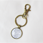 Anne of Green Gables Quote Keyring KeyChain Literature Kindred Spirits Are Not