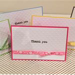 Pack of 5 Thank you cards ( mixed colours )