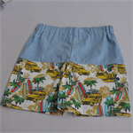 Boys Shorts in light weight cotton old car holden surf palms size 6-7