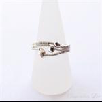 Fine & Sterling Silver Ring - Handmade Wire Wrap & Woven Jewellery