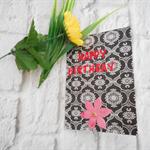 Pretty decorated blank birthday card