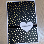Congratulations card - gold confetti