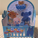 Handmade Baby Boy in a Crib Card
