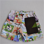 Boys Shorts in light weight cotton Drill Cartoon fox boy girl colourful 5-6