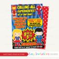 Superhero Birthday Invitation Printable