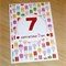Girls Happy Birthday card - any age - ice creams - personalised