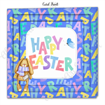 Blue Bunny Happy Easter