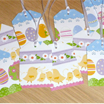 Set 10 Super Cute Easter Gift tags - Eggs & Chicks!