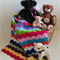 Rainbow Chevron Hand Crocheted Newborn Baby Blanket