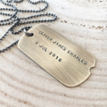 Dog Tag Mens Necklace, Personalised Tags, Gift For Husband, Mens Jewellery