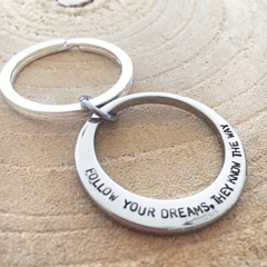 Graduation Keyring, Inspiration Keyring, Quote Keychain, 21s Birthday Gift