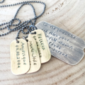Dog Tag Necklace, Gift For Dad, Personalised Dad Gift, Dog Tag Jewellery