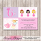 Princess High Tea Personalised Birthday Invitation - YOU PRINT