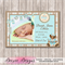 Baby Boy Photo Personalised Birth Announcement - YOU PRINT