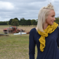 Mustard yellow scarf shawl free postage