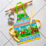 SALE !! Kids/Toddlers Apron Woodland Friends - lined kitchen/craft/play apron