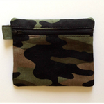 Khaki Green Camouflage Pouch