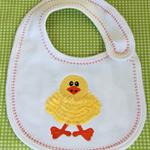 Newborn baby bib- baby chick, embroidered bib, newborn gift, baby shower