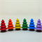 Rainbow tree set six wooden trees for pretend play