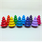 Rainbow tree deluxe set ten wooden trees for pretend play
