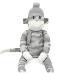 'Dustin' the Sock Monkey - grey camouflage - *READY TO POST*
