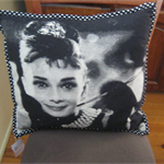 Audrey Hepburn Cushion Cover With or without insert