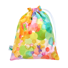 Small Wet Bag / Bikini Bag. Butterflies & Bubbles. Swim bag for Pool & Beach.