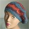 Beret,Tam,Hat,Pure Wool, Hand Dyed,Spun and Knitted, Blue, Red, Woman,Teen