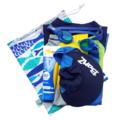 Small Wet Bag / Bikini Bag. Butterflies & Bubbles. Swim bag for Pool & Beach.