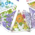 Vintage Bunting - Retro Pretty Multi-Colour Floral Flags. Party, Home Decoration