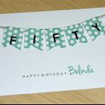 Female Happy Birthday card  - 40th 50th 60th