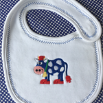 Embroidered baby bib, newborn baby bib, burping bib, baby gift, baby shower gift