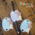 Personalised Easter Pencil Tags - set 12, choose designs
