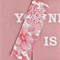 Fabric Bookmark, Red and White Floral