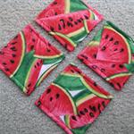 Coasters / Set of Four - Watermelon -