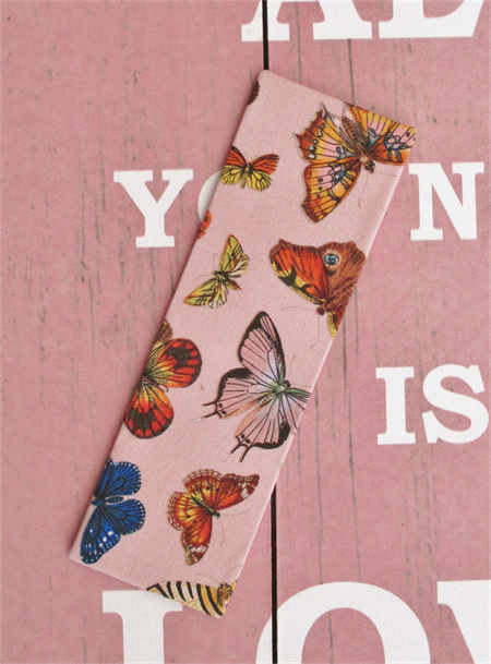 Fabric Bookmark, Butterflies