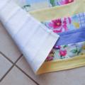 Half Apron - Retro Cottage Chic apron - lined cotton apron