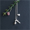 Little Leaf necklace with Dainty Leaf and a pearl