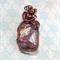 Wirewrapped Glass Lampwork Pendant Copper